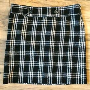 Ann Taylor LOFT Skirt Lined Size 2 Black & White